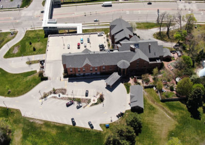 The Ronald McDonald House, Wauwatosa, video surveillance, access control systems, structured cabling, network cabling, sales, installation, installers,Above Wisconsin, Drone aerial photo, before expansion,